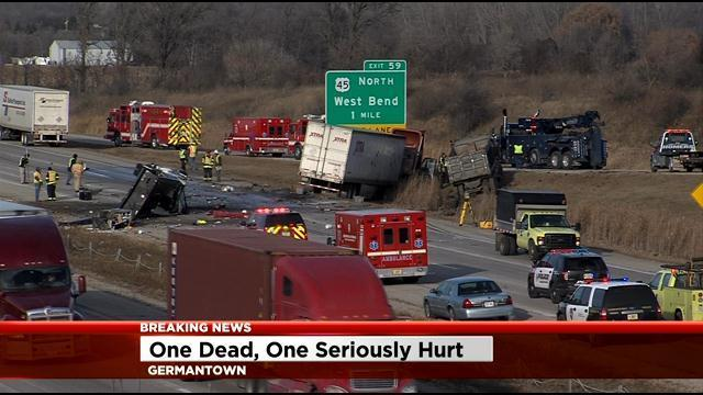 Multiple vehicle accident shut down US 41/45 for hours