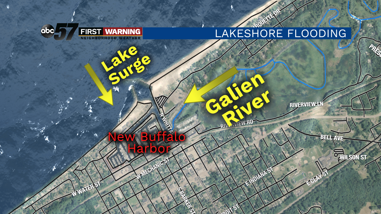 Lakeshore Flooding Puts Parts Of New Buffalo Under Water