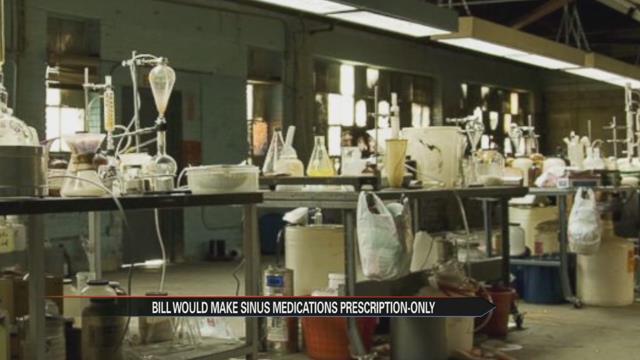 Bill would make sinus medications prescription-only