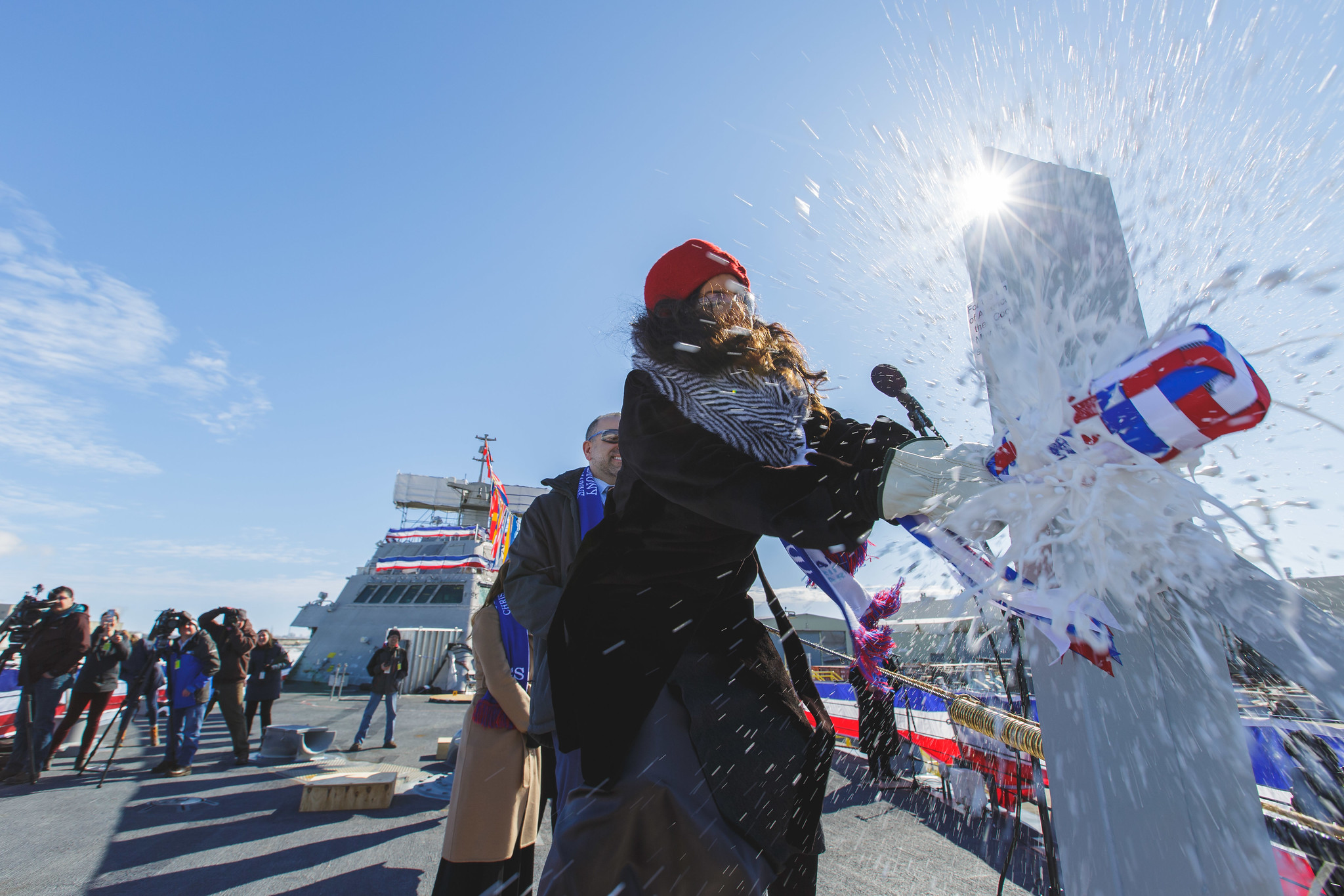 Littoral Combat Ship christening credit: Lockheed Martin  by