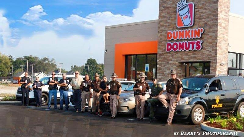 Law enforcement officers welcome dunkin 39 donuts to laporte for Laporte county offices