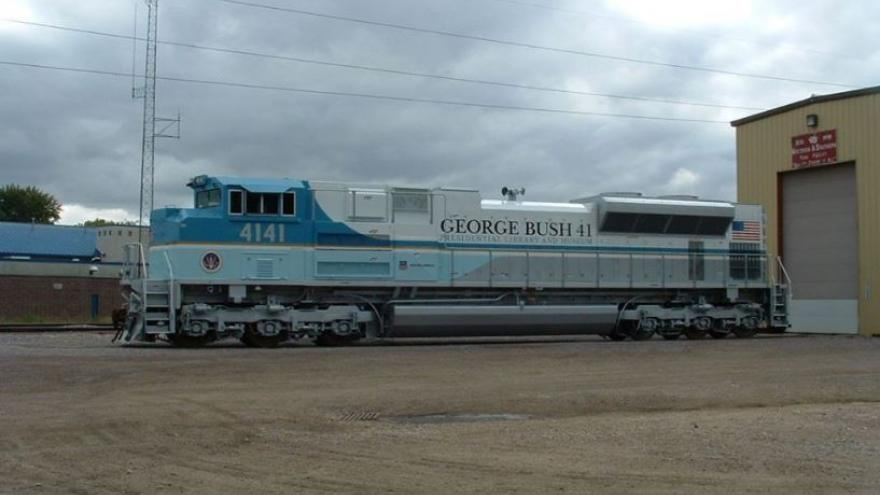 President George H W Bush Train Painted In Wisconsin