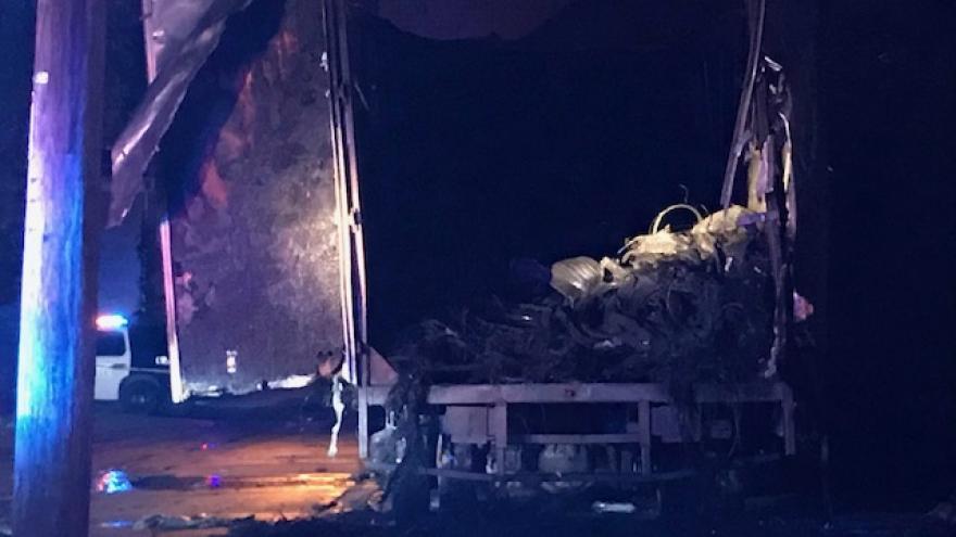 Milwaukee Fire Department responds to tire truck fire near