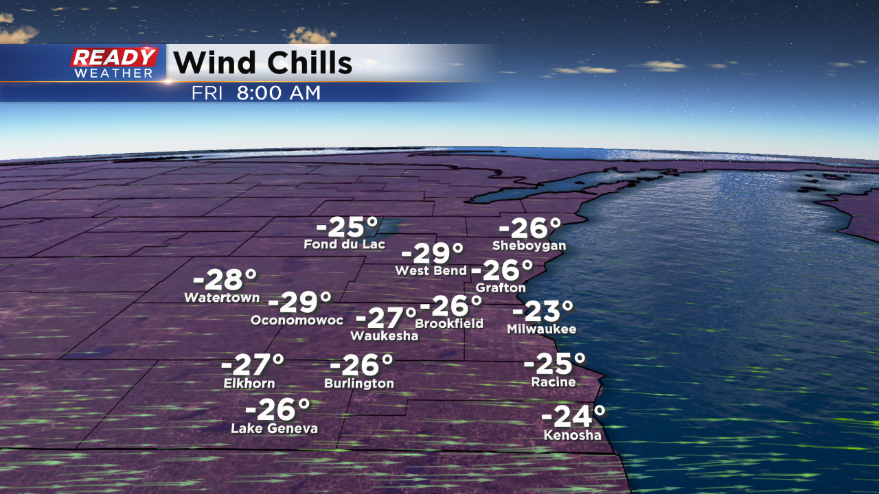 Wind chill advisory for Richland County on Friday morning