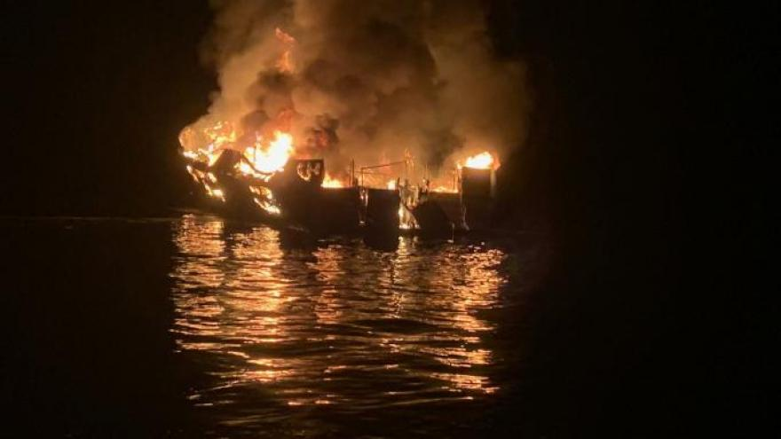 The search has been suspended in the deadly dive-boat fire