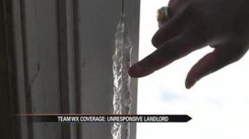 Renter freezing because landlord won't fix door