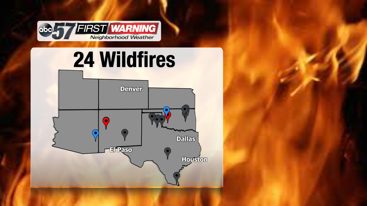 Rhea Fire Map.Southern Plains Ablaze As Wintry Systems Pass To The North