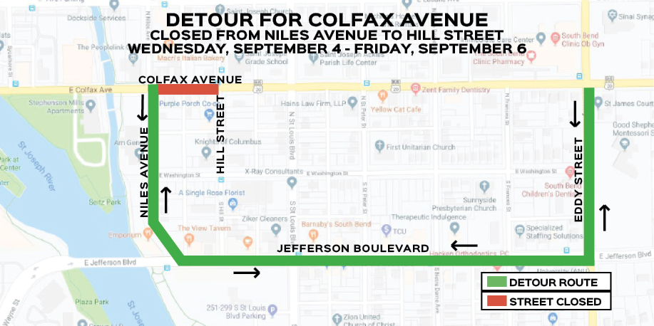 Colfax Avenue in South Bend to be restricted to single lane