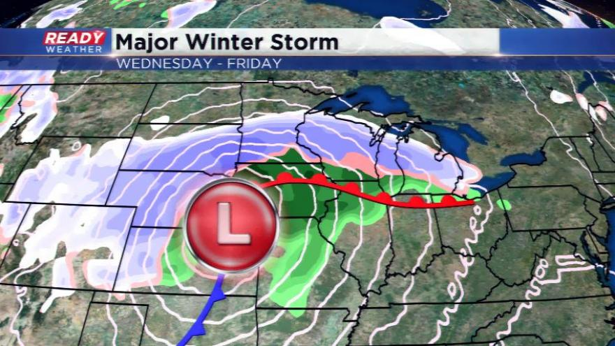 Snow starts in region, winter storm watch coming