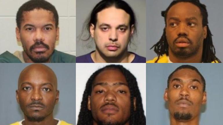 Courey Agee (33), Luis Lorenzo (34), Michael Smith (37), Jasmaine Linton (38), Maureno Briggs (29), Tyrone Bryant (28)  by