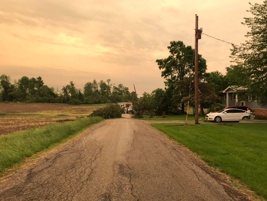 Tornados leave trail of destruction across Ohio, Indiana